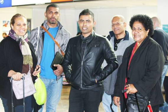 With Fijians serving in UN who came ot meet at the Austria Airport